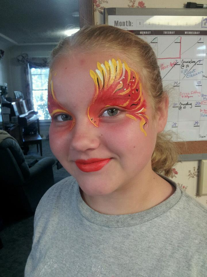 phoenix new creation face painting